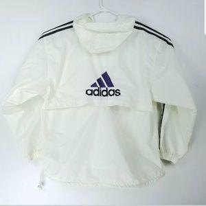 Adidas Mens Size XL Jacket VTG 90s Hooded Nylon